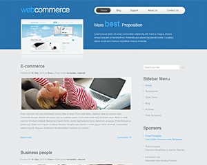 WideCommerce Website Template